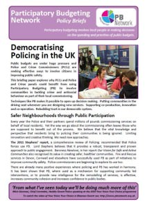 democratising policing cover