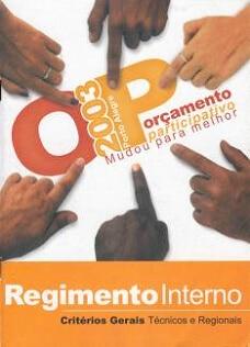 Brochure cover from PB in Porto Alegre 2003