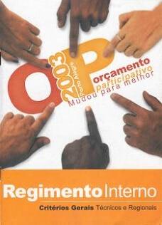 Brochure cover from PB in Porto Alegre 2003