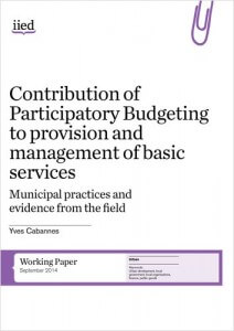 Contribution of Participatory Budgeting cover image