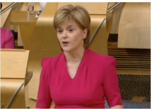 Nicola Sturgeon announcing the programme for government 2015