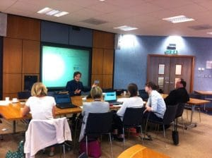 Alistair Stoddart running a digital PB workshop